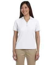 Ladies' Pima Piqué Short-Sleeve Y-Collar Polo