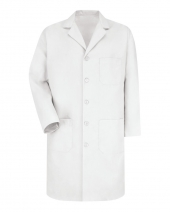 Button Front Lab Coat - Long Sizes