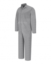 Button-Front Cotton Coverall Additional Sizes