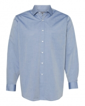 Chambray Spread Flex Collar Shirt