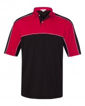 Daytona Racing Colorblocked Moisture-Free Mesh Sport Shirt