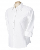 Ladies' Perfect Fit™ Three-Quarter Sleeve Stretch Poplin Blouse