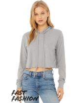 Fast Fashion Women's Cropped Long Sleeve Hoodie