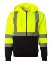 Hi-Vis Hooded Full-Zip Sweatshirt