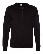 Lightweight Jersey Hooded Full-Zip T-Shirt
