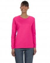 Ladies' Cotton 5.3 oz. Missy Fit Long-Sleeve T-Shirt