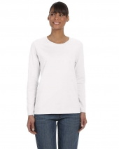 Ladies' Cotton 5.3 oz. Missy Fit Long-Sleeve T-Shirt