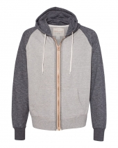 Marled Raglan Full-Zip Sweatshirt