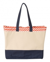 Patterned Top Beach Tote