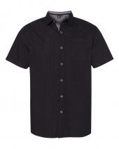 Peached Printed Poplin Short Sleeve Shirt