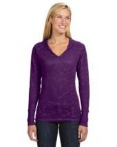 Ladies' Jersey Burnout Hooded T-Shirt