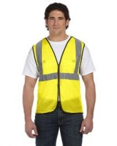 Men's High Visibility Value 5-pt. Break-Away Safety Mesh Vest