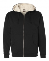 Sherpa-Lined Full-Zip Hooded Sweatshirt