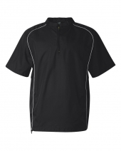 Short Sleeve Poly Dobby Quarter-Zip Pullover