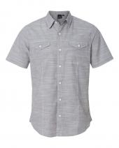 Textured Solid Short Sleeve Shirt
