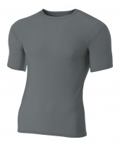 Adult Polyester Spandex Short Sleeve Compression T-Shirt