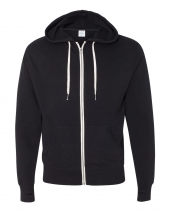 Unisex Heathered French Terry Full-Zip Hooded Sweatshirt