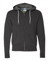 Unisex Lightweight Full-Zip Hooded Sweatshirt