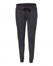 Women's Glitter French Terry Fleece Jogger