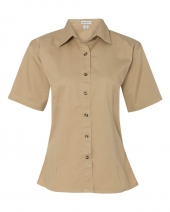 Women's Short Sleeve Cotton Twill Shirt