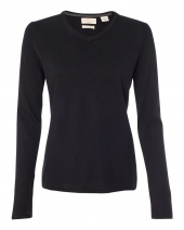 Women's Vintage Cotton Cashmere V-Neck Sweater