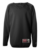 Youth Long Sleeve Flatback Mesh Fleece Pullover