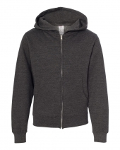 Youth Midweight Full-Zip Hooded Sweatshirt