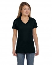 Ladies' 4.5 oz. 100% Ringspun Cotton Nano-T® V-Neck T-Shirt