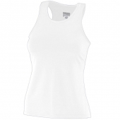 Ladies Poly/Spandex Solid Racerback Tank