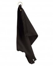 Fringed Fingertip Towel With Corner Grommet and Hook