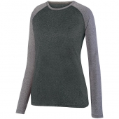 Ladies Kinergy Two Color Long Sleeve Raglan Tee