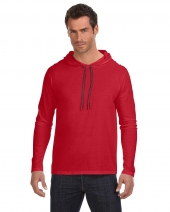 Adult Lightweight Long-Sleeve Hooded T-Shirt