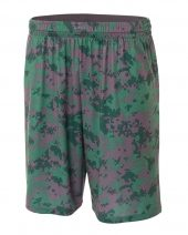"""Adult 10"""" Inseam Printed Camo Performance Shorts"""