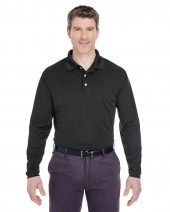 Adult Cool & Dry Long-Sleeve Stain-Release Performance Polo