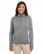 Ladies' Newbury Mélange Fleece Quarter-Zip