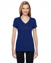 Ladies' 4.7 oz. Sofspun® Jersey Junior V-Neck T-Shirt