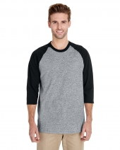 Adult Heavy Cotton™ 5.3 oz. 3/4 Raglan Sleeve T-Shirt