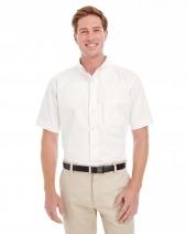 Men's Foundation 100% Cotton Short-Sleeve Twill Shirt Teflon