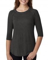Ladies' Oasis Wash 3/4 Sleeve T-Shirt