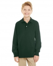 Youth 5.6 oz. SpotShield™™ Long Sleeve Jersey Polo