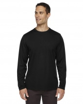 Men's Agility Performance Long-Sleeve Piqué Crewneck