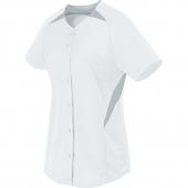 Girls Galaxy Full Button Softball Jersey