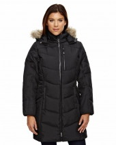 Ladies' Boreal Down Jacket with Faux Fur Trim