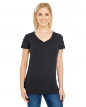 Ladies' Pigment Dye Short-Sleeve V-Neck T-Shirt