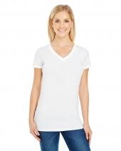 Ladies' Pigment Dye Short-Sleeve V-Neck T-Shirt