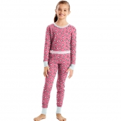 Hanes X-Temp 153 Girls Organic Cotton Printed Thermal Set