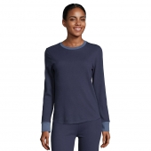 Hanes Womens Solid Color Fusion Crewneck