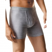 Hanes Mens Boxer Brief with Comfort Flex Waistband Black/Grey Assorted 7-Pack
