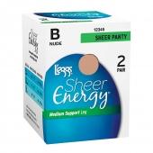 Leggs Sheer Energy All Sheer 2 Pair