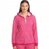 Hanes Womens French Terry High Low Zip Hoodie